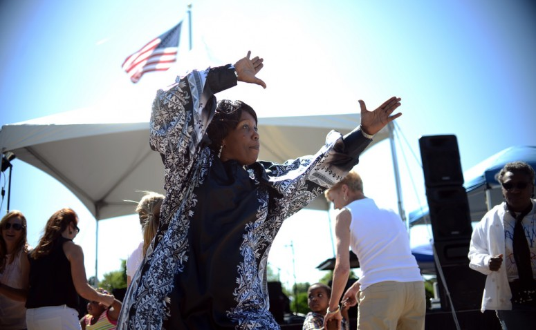 Cheryl Maroney of the Family of Praise Gospel Choir will have you on your feet (photo by Pat Jarrett/VFH Staff)