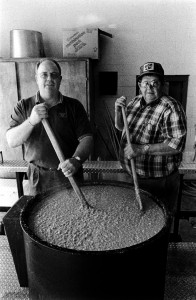 Master Stewmakers John D. Clary and Phil Bachelor. Photo by Morgan Miller/Virginia Folklife Program.