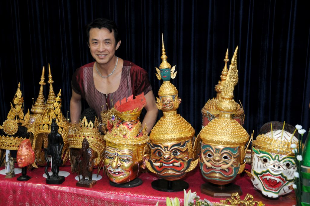 Master Cambodian costume maker Sochietah Ung, photo courtesy the artist.