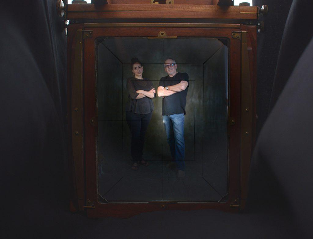 Richard Pippin (right) and apprentice Melissa Jones. Photo by Pat Jarrett/Virginia Folklife Program