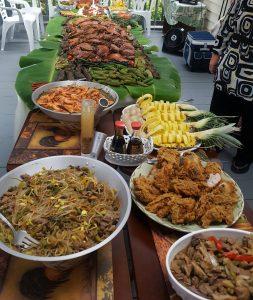 Filipino feast (photo courtesy Janet Rickett)