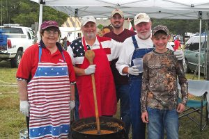 Red, White, and Blue Stew Crew (photo courtesy Randy Bush)