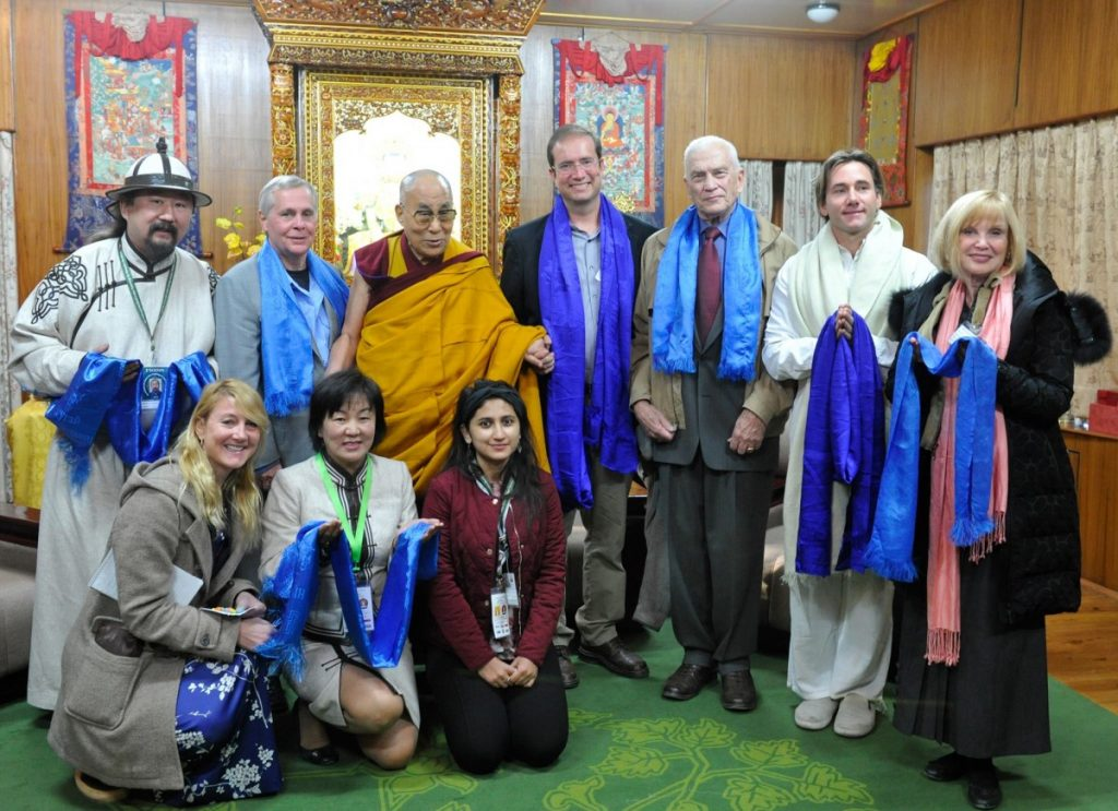 Jon Lohman with delegation to visit Dalai Lama